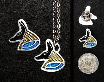 Anubis Pewter Lapel Pin or Pendant