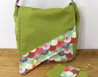 Green Slant Messenger Bag
