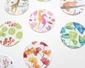 bullet journal stickers, floral stickers, bujo stickers, cute envelope stickers, floral round stickers, bullet journal accessories