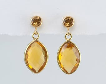 citrine earrings etsy