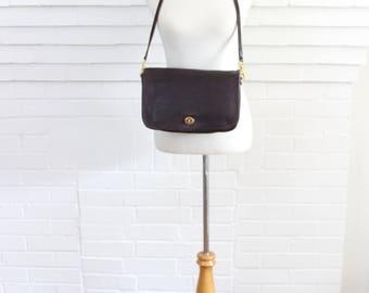 Vintage Coach Bag // Coach Saddle Bag Burgundy // Coach Convertible Clutch Purse Handbag
