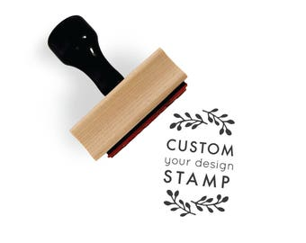 """Custom Rubber Stamp, 1.5"""" x 2"""" Size 