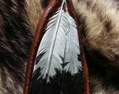 Eagle feathers keychains, feathers keychains, feather keyrings, Native key fob, handmade keychains