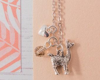 Llama Necklace, Llama Charm Necklace, Llama Pendant, Llama Jewellery, Llama Charm, Llama Gift, Fashion Necklace, Handmade Llama,