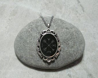 Vegvisir Necklace Viking Icelandic Norse Antique Silver