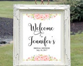 Custom Bridal Shower Welcome Sign, Printable Welcome Sign, Bridal Shower Decor, Wedding Printable, Custom Sign, You Print