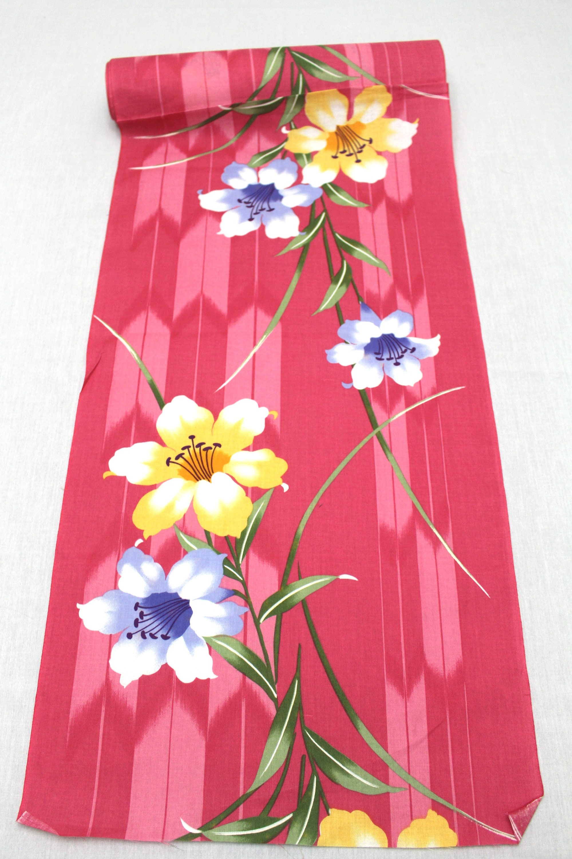 Japanese Vintage Yukata Cotton Fabric. Full Bolt Available