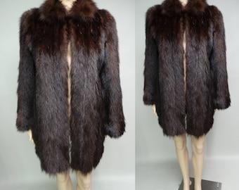 Vintage Fur Coat | Stroller Length Fur Coat | 1940s Fur Coat | 40s Fur Coat | 40s Swing Coat | Winter Fur Coat | Fur Coat |