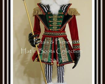 "PRE-ORDER for ""2018""Delivery-Christmas  ""NUTCRACKER"" Character Stand -Petals & Plumes-Creator of the Character Wreath©- 46"" Tall- 3 Avail"