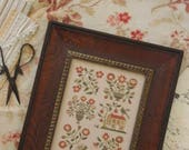 Pre-order 2018 Nashville Market WITH THY NEEDLE Spring in Baltimore counted cross stitch patterns at thecottageneedle.com