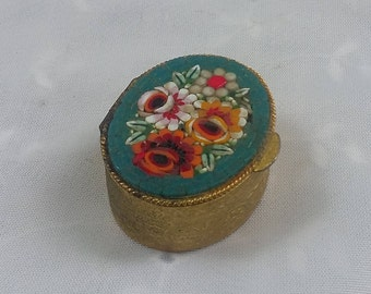 Mini Trinket Mosaic Lid Ring Container