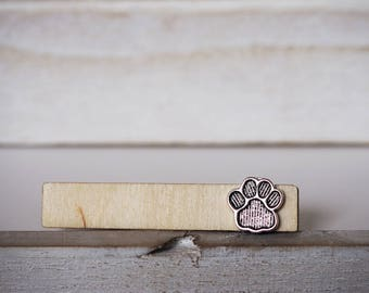Cat Dog Tie Clip Paw Print Tie Bar Grooms Tie Clip Pets Lovers Anniversary Gift Tie Tack Dog Cat
