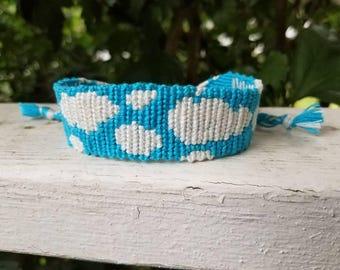 Nothing But Blue Skies Do I See Friendship Bracelet Woven Bracelet