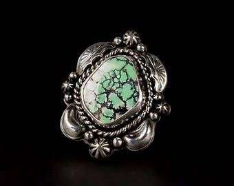 Green Turquoise Ring - Size 8