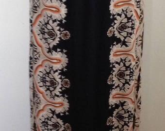 1970's Mr. Dino maxi brown/black long skirt