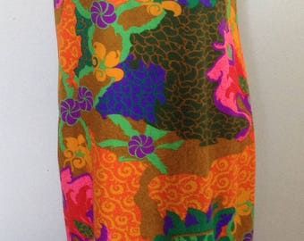 Sun Fashions Hawaii tropical maxi long dress