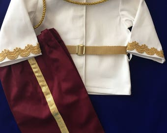 Prince Charming Costume  - Jacket, Pants, Belt and Epaulettes  12 Month to 3T