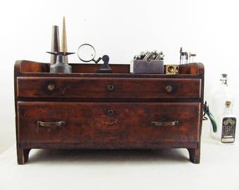 HOLD for Lauryn// desk organizer,storage cabinet,tool box,desk caddy,machinist's chest,tool box,jewelers bench,workbench organizer