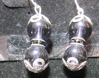 Earrings Jen 12 silver black beads