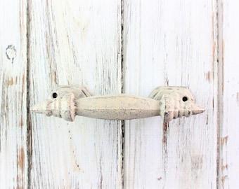 Cast Iron Pulls, Rusty Metal, Iron Pull, Rustic Knobs, Handles, Rustic Home Decor, Dresser Handle, Old Barn Pull, Iron Door Handle