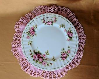 "Royal Albert Flower of the Month June Roses Salad Plate 8 1/4"" Bone China  *eb"