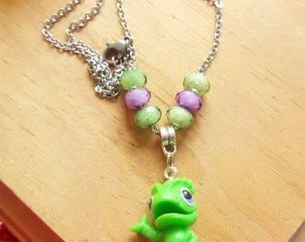 Pascal, the chameleon Necklace. Rapunzel's pet