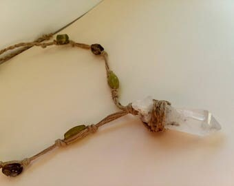 Quartz Crystal Hemp Necklace