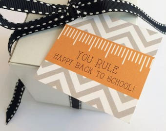 Back to School Tags Digital Download Party Favors First Day of School Teacher Student