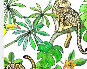 Organic Baby Blanket, Tropical Jungle, Latin American, GOTS Certified Organic Cotton Lined in Plush Organic Sherpa, 27 X 35 inches