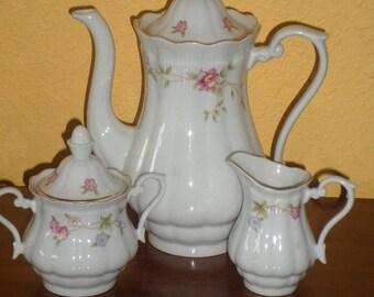 Porcelain/POLISH TEA SET/Pink Roses/Like New