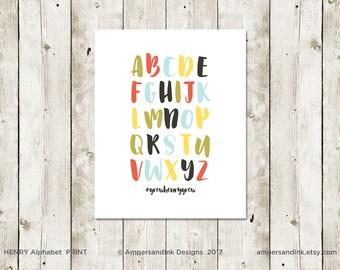 PRAY FOR HANK - Alphabet, Nursery Print, Wall Decor, Home Decor, 8 x 10 print