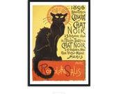 Le Chat Noir - by Theophile Steinlen - Art Print Poster - Art nouveau poster - Vintage advertisement, P004