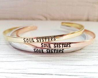 Soul Sisters Bracelet or Bracelets, Best Friend Bracelets