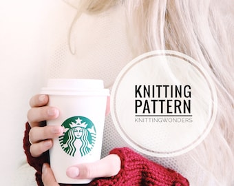 KNITTING PATTERN ⨯ Fingerless Gloves Wrist Warmers ⨯ Digital Knit Pattern PDF, Easy Beginner Knit Pattern ⨯ Women's Knit Gloves Pattern