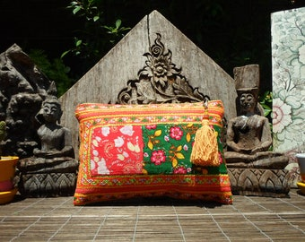 Embroidered Vintage Textile Tribal Clutch Purse