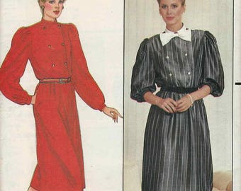 Butterick 4848 Loose fit db bodice dress pleated sleeves stand away collar Size 14 Richard Warren (uncut) sewing pattern