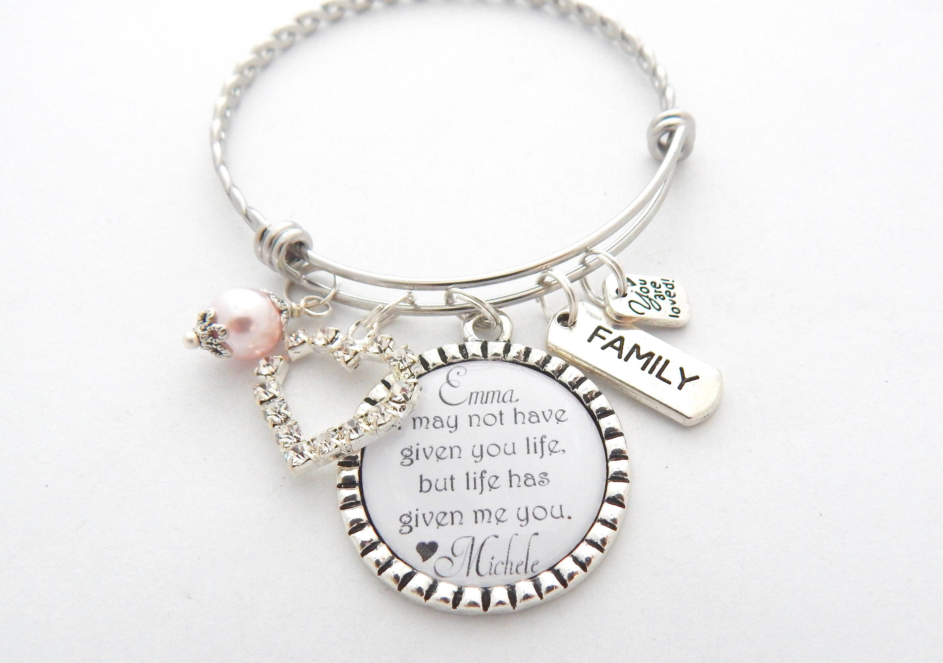 Wedding Gifts For Stepmom: Personalized STEP DAUGHTER GIFT-Step Daughter Jewelry-Adoption