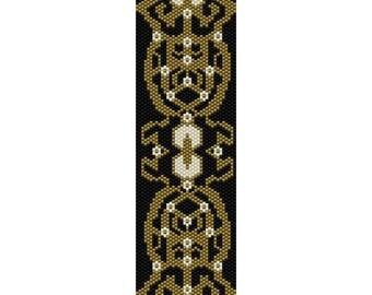 Art Deco 12 Peyote Bead Pattern, Bracelet Cuff Pattern, Bookmark Seed Beading Pattern Miyuki Delica Size 11 Beads - PDF Instant Download
