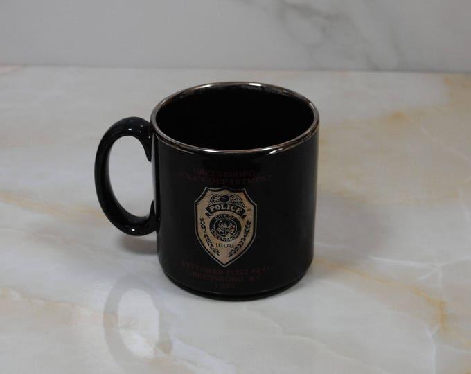 Vintage Greensboro North Carolina, Police Department, Coffee Cup, 1993, Bomb, Disposal Unit, Explorer Post, 241, Mug, Police Collectible