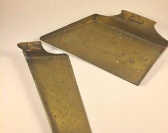 Vintage Benedict Brass CrumbCatchers, Silent Butler,  Set of 2