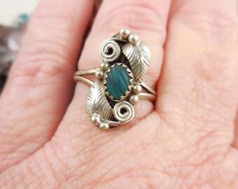 Native American Sterling Paua Shell Ring