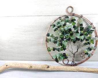 Tree of Life. Gift for Mother. Memorial Gift. Grandmother Gift. Stone Suncatcher. Mothers Day. House Decor. Newlywed Gift. New House Gift