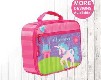 Personalized Unicorn Lunch box, Stephen Joseph Lunch Box, Embroidered Childrens Lunch Box, Monogrammed Lunch box