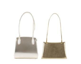 Leather shoulder bag REGINA, YVETT // gold (Italian calf skin) - FREE shipping, unique bag