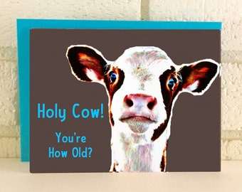 Cow Farm Birthday Card Funny