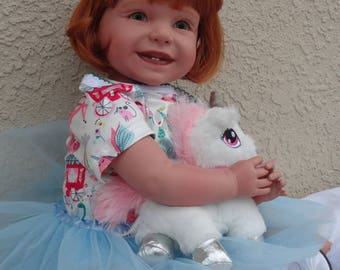 "REborn 22"" Toddler Girl Doll ""Sheila"" - ""Unicorn Magic"""