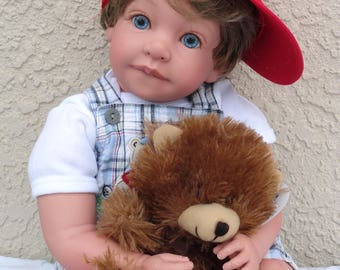 "Reborn 22"" Toddler Boy Doll ""Arie - Golfing with Teddy""- made to order!"