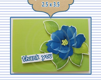 Floral Rose Friend Favor Tag Blank card tag friend card Thank you card teacher gift coworker gift Best friends card Appreciation