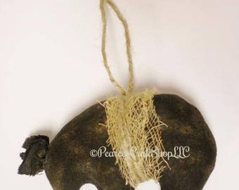 Bear Ornament - Made To Order, Primitive Ornaments, Bears, Black Bears, Polar Bears, Brown Bears, Christmas Ornaments, Primitive Animals