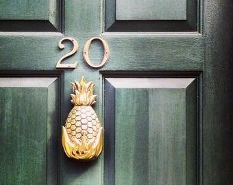 Brass Pineapple Door Knocker - Brass Door Knocker - Holiday Gift